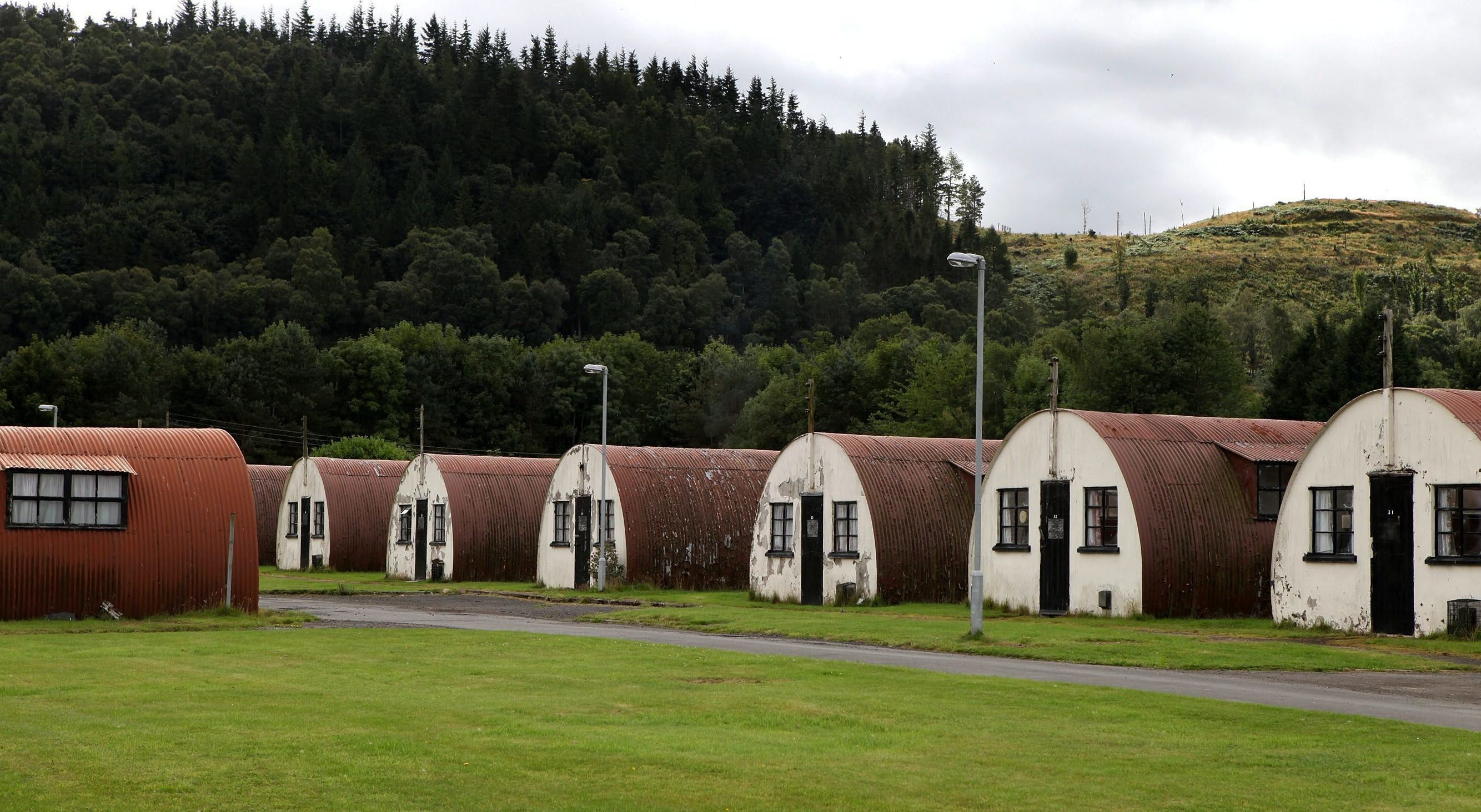 Cultybraggan Camp, near Comrie.