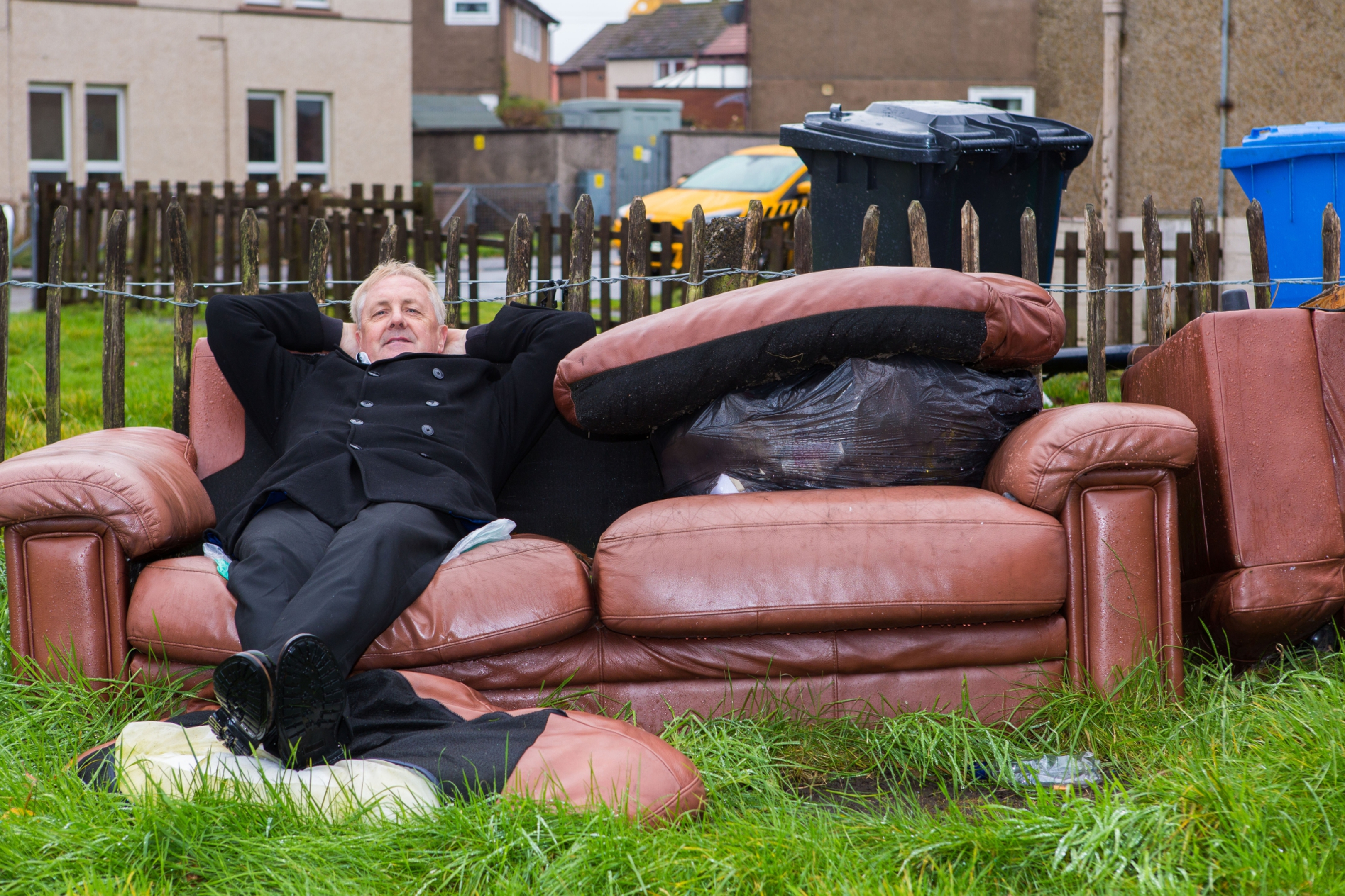 Councillor John O'Brien is trying to get Fife Council to uplift unsightly couches and other dumped in peoples gardens.