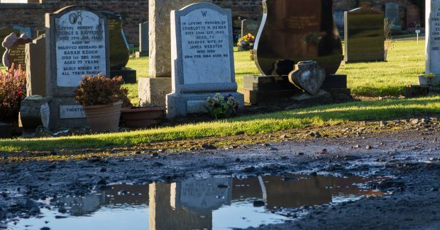 Flooding is a problem at Kennoway cemetery