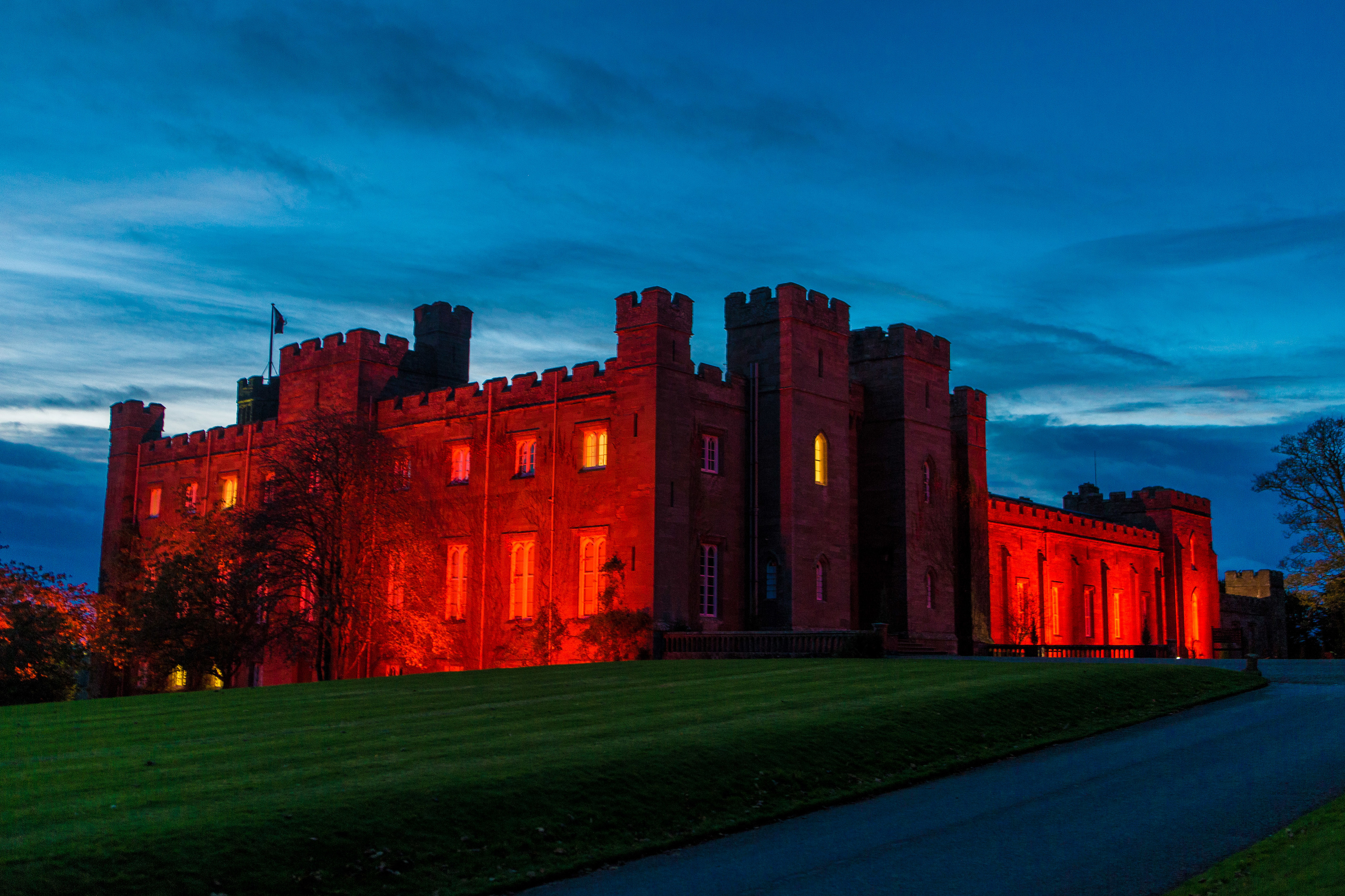 Scone Palace Lights up Red for Remembrance