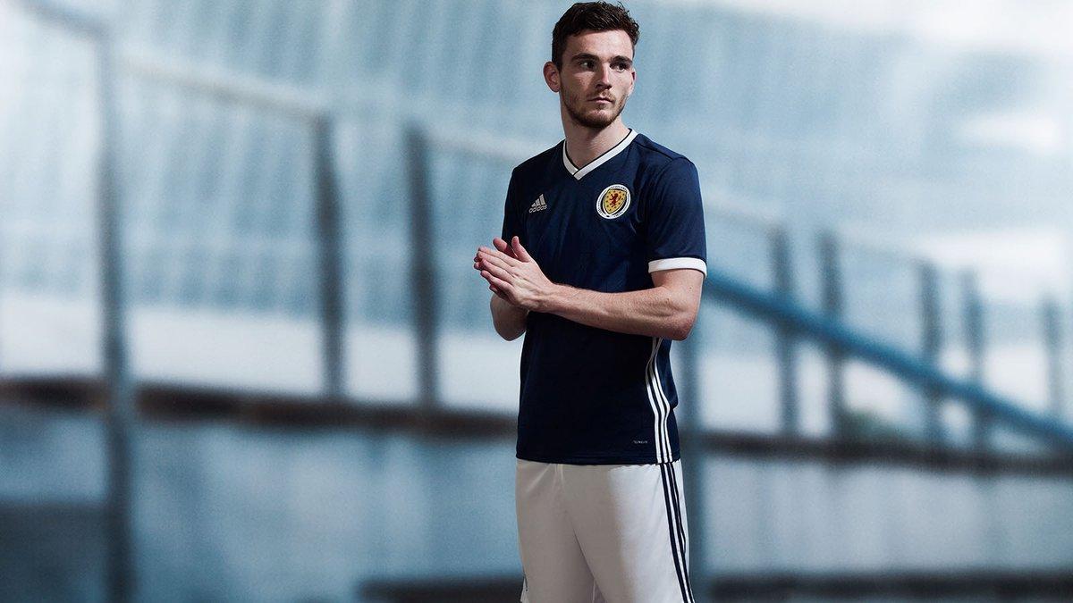 The new Scotland home kit. Credit: @ScottishFA on Twitter.