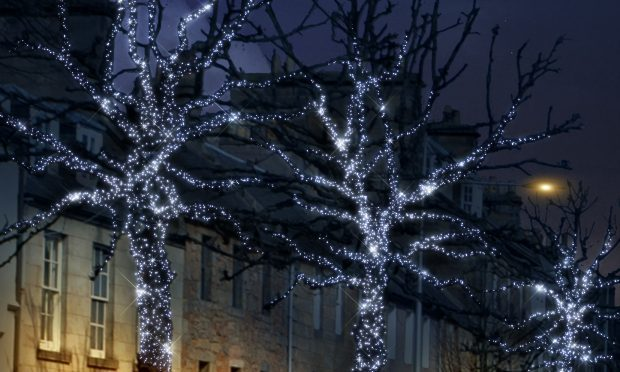 How trees in South Street will look as St Andrews is illuminated for the winter