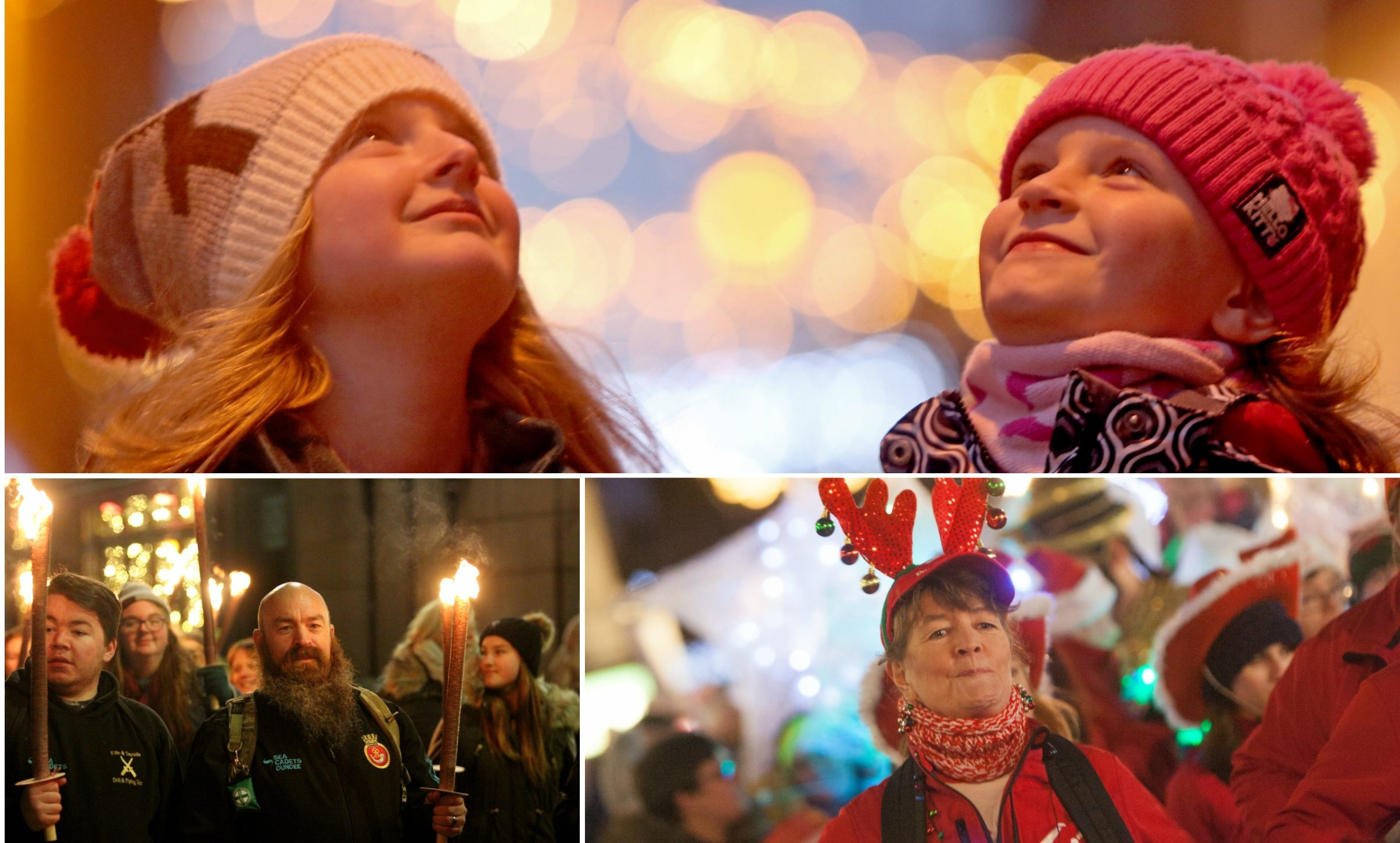 Christmas lights switch-ones were held across Tayside and Fife.