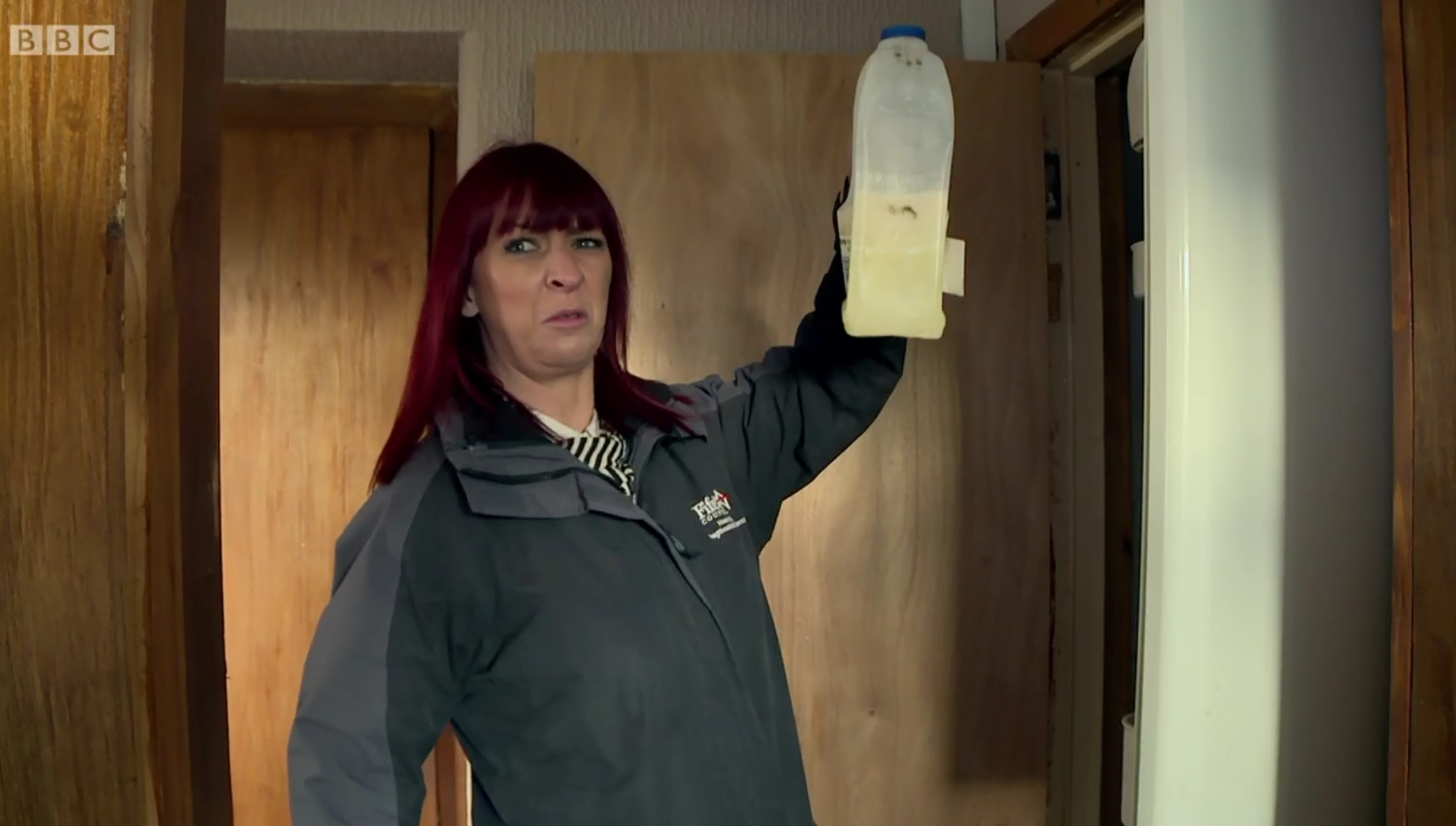 Housing officer Karen checks a property in Collydean, Glenrothes, as part of BBC documentary The Council.