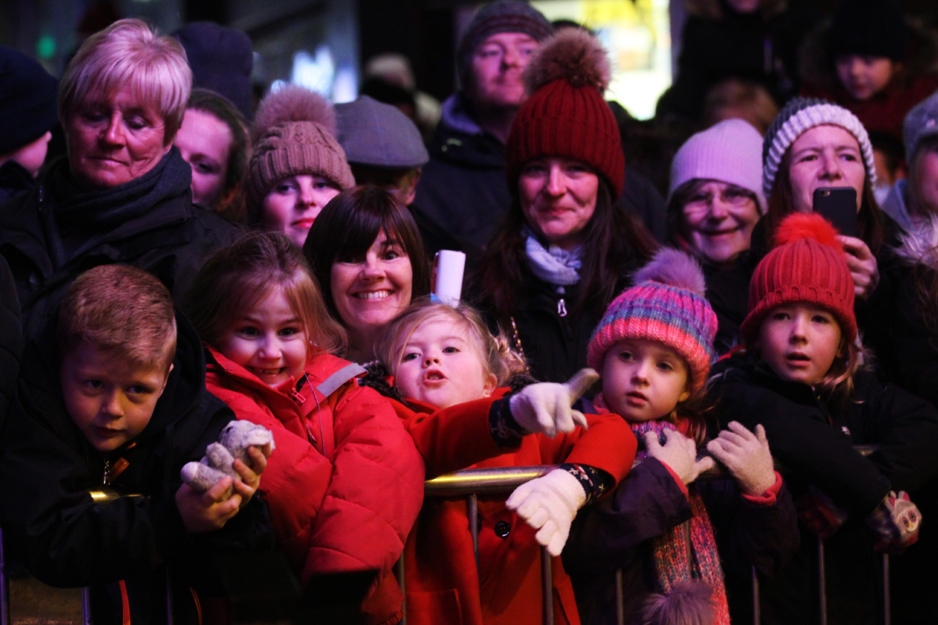 Some of those who attended the Broughty Ferry Christmas lights switch-on.