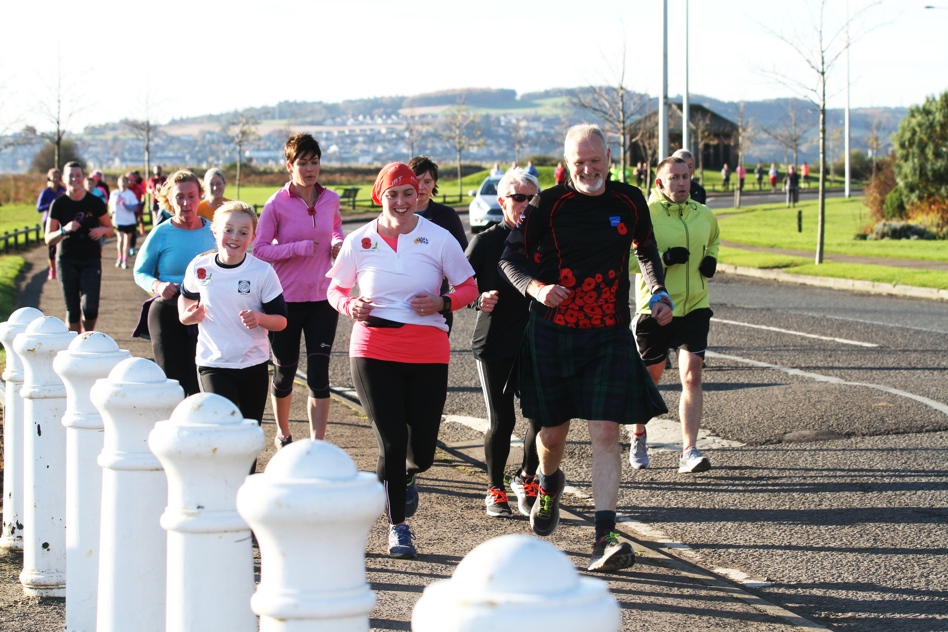 The Remembrance Day run had about 200 participants.