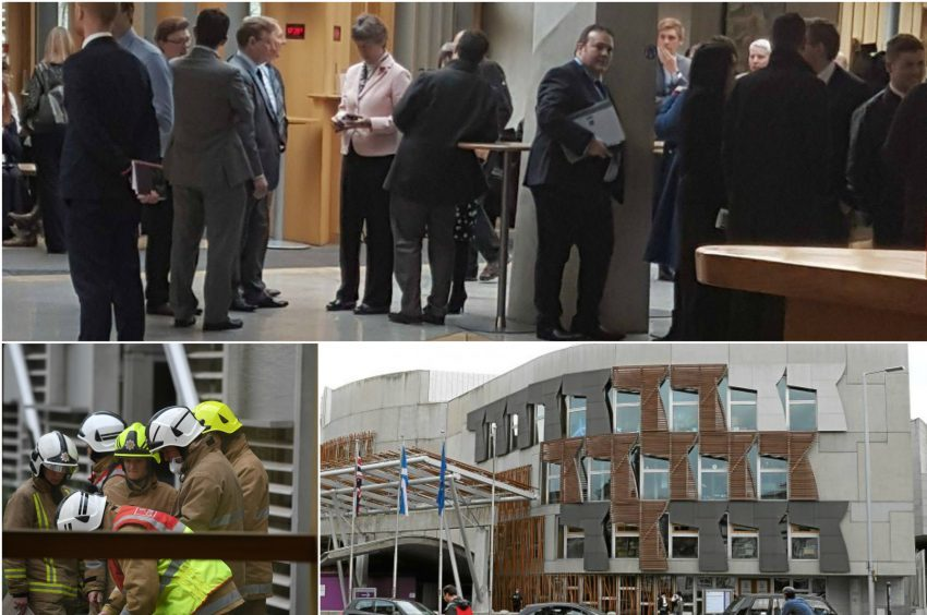 Part of the Scottish Parliament has been evacuated,