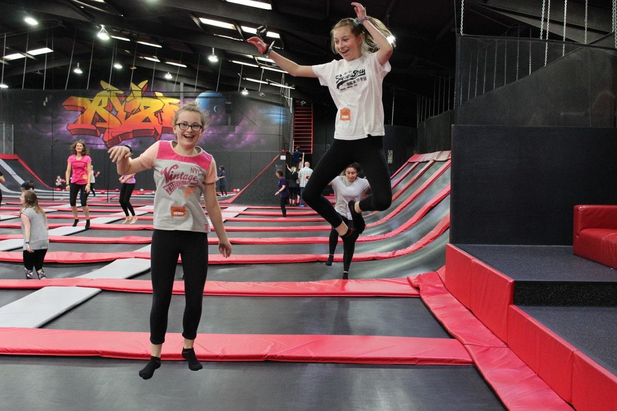 Youngsters bouncing in a similar facility in Edinburgh