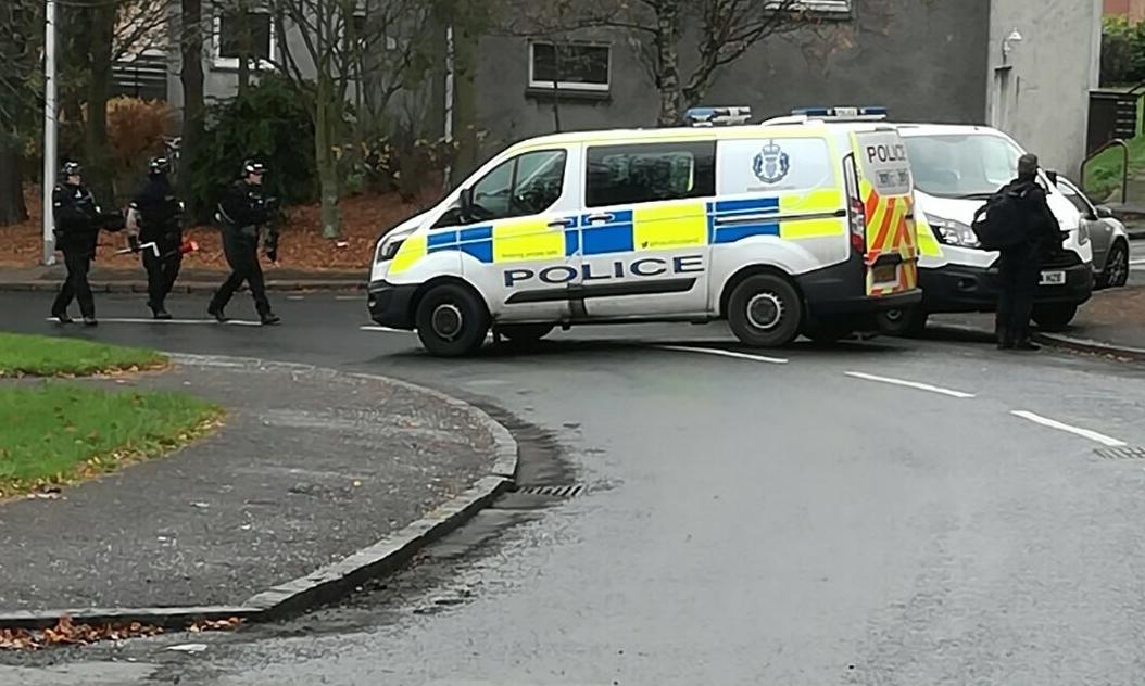 Police in Yarrow Terrace.