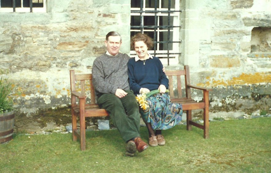 Mr Adam and his wife Dorothy at Menzies Castle in 1989. The couple spent many happy years there.