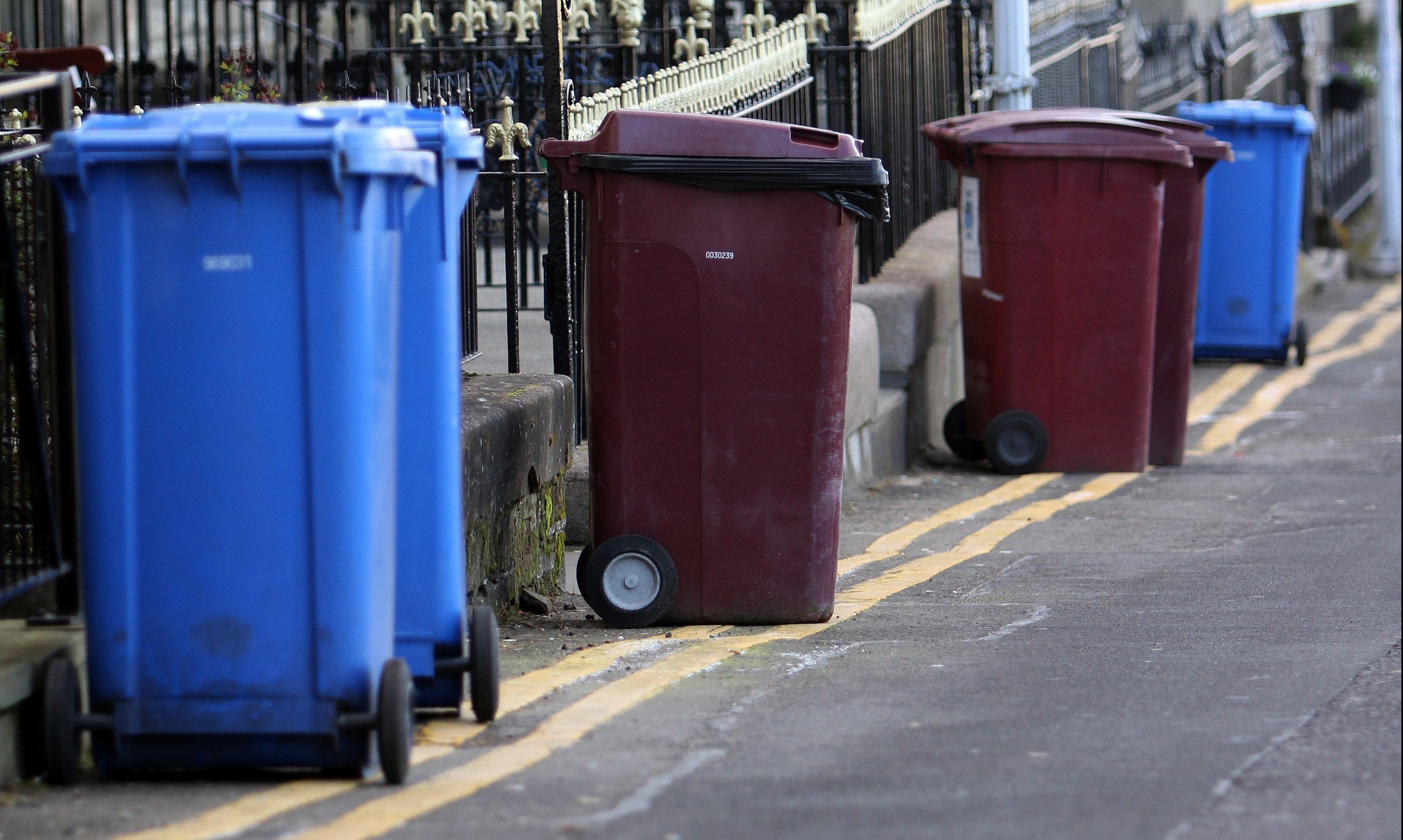 Fife Council wheelie bins in St Andrews.