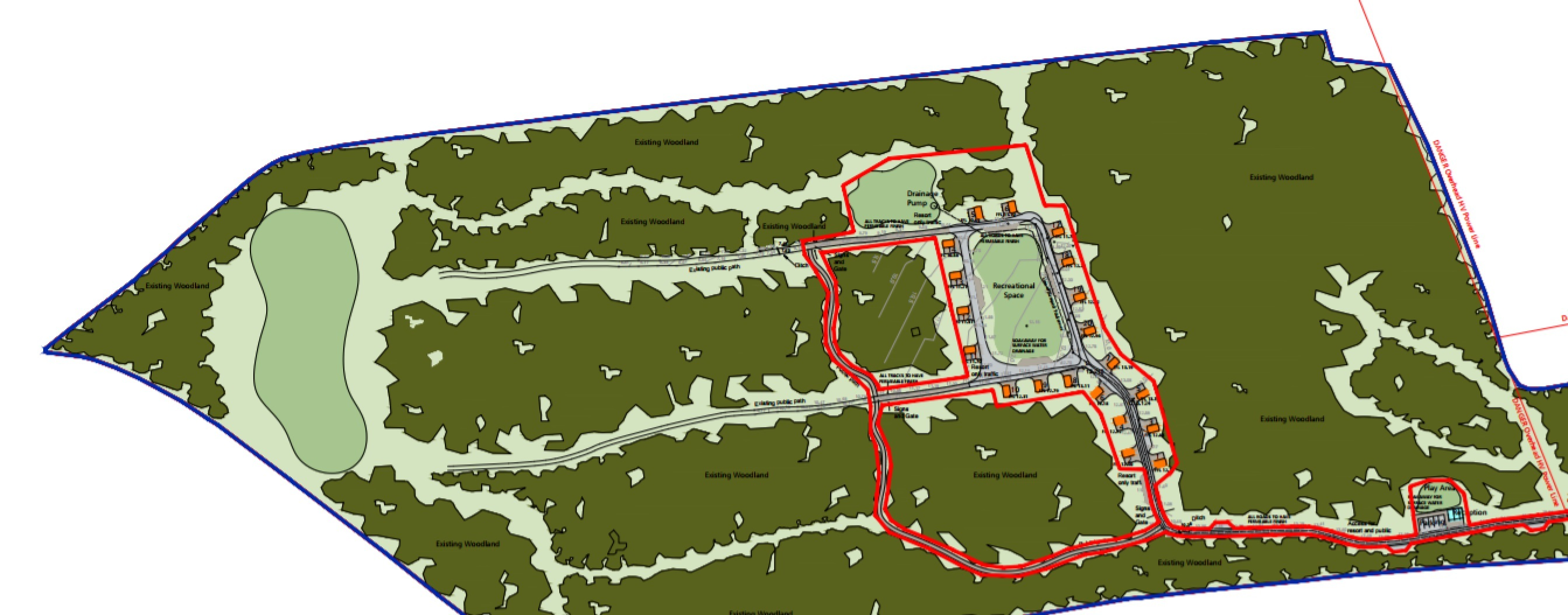 The planned site layout