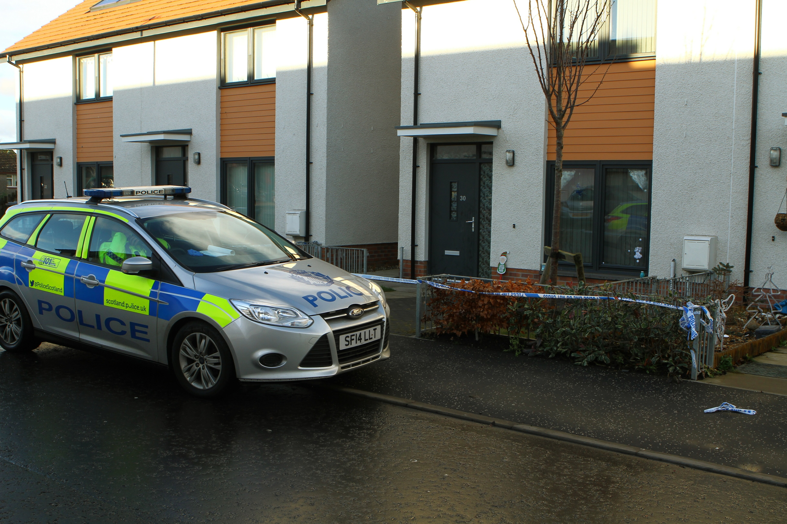 Police activity at Gruinard Terrace in Dundee.