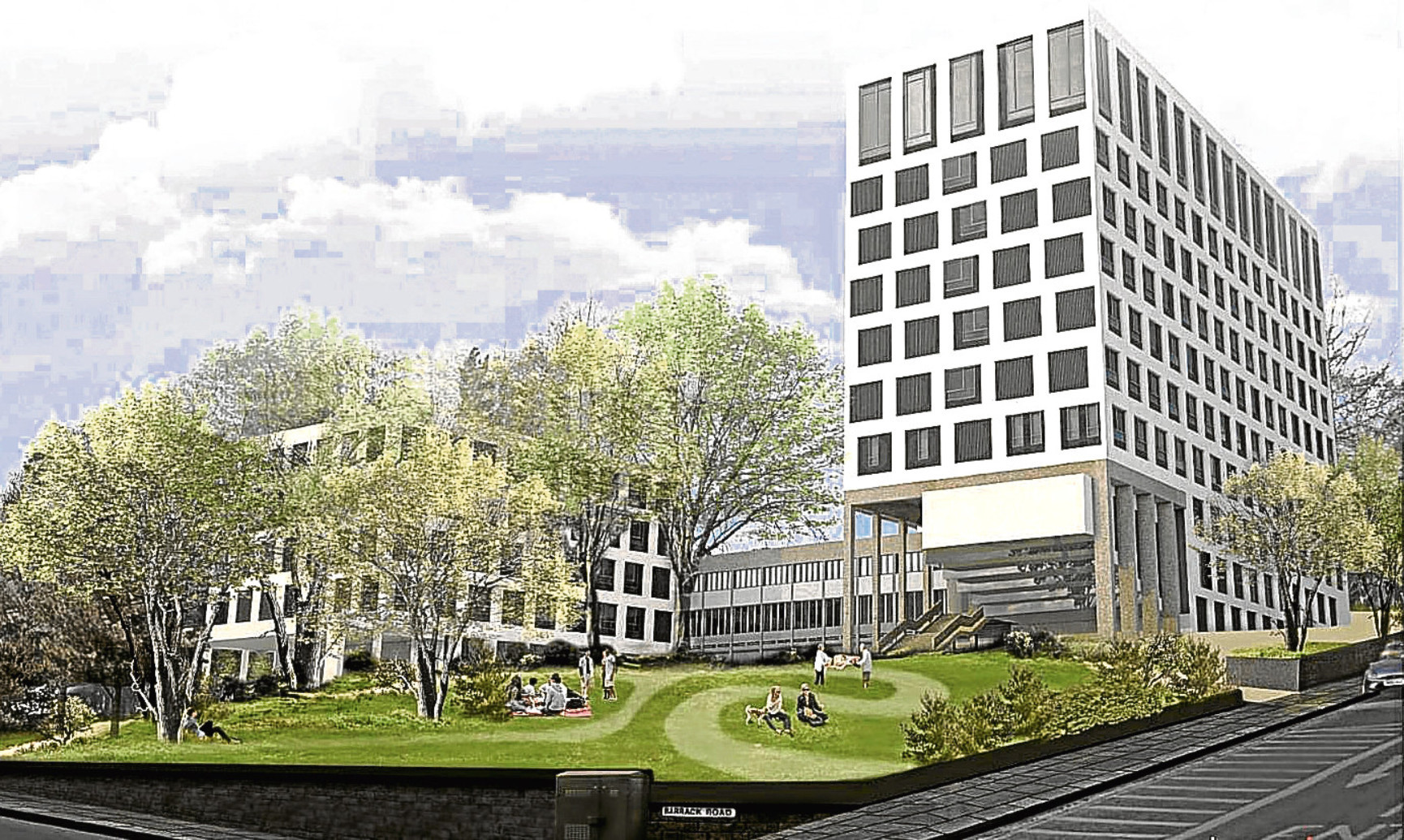 The vision for the development on the old Dundee College campus.