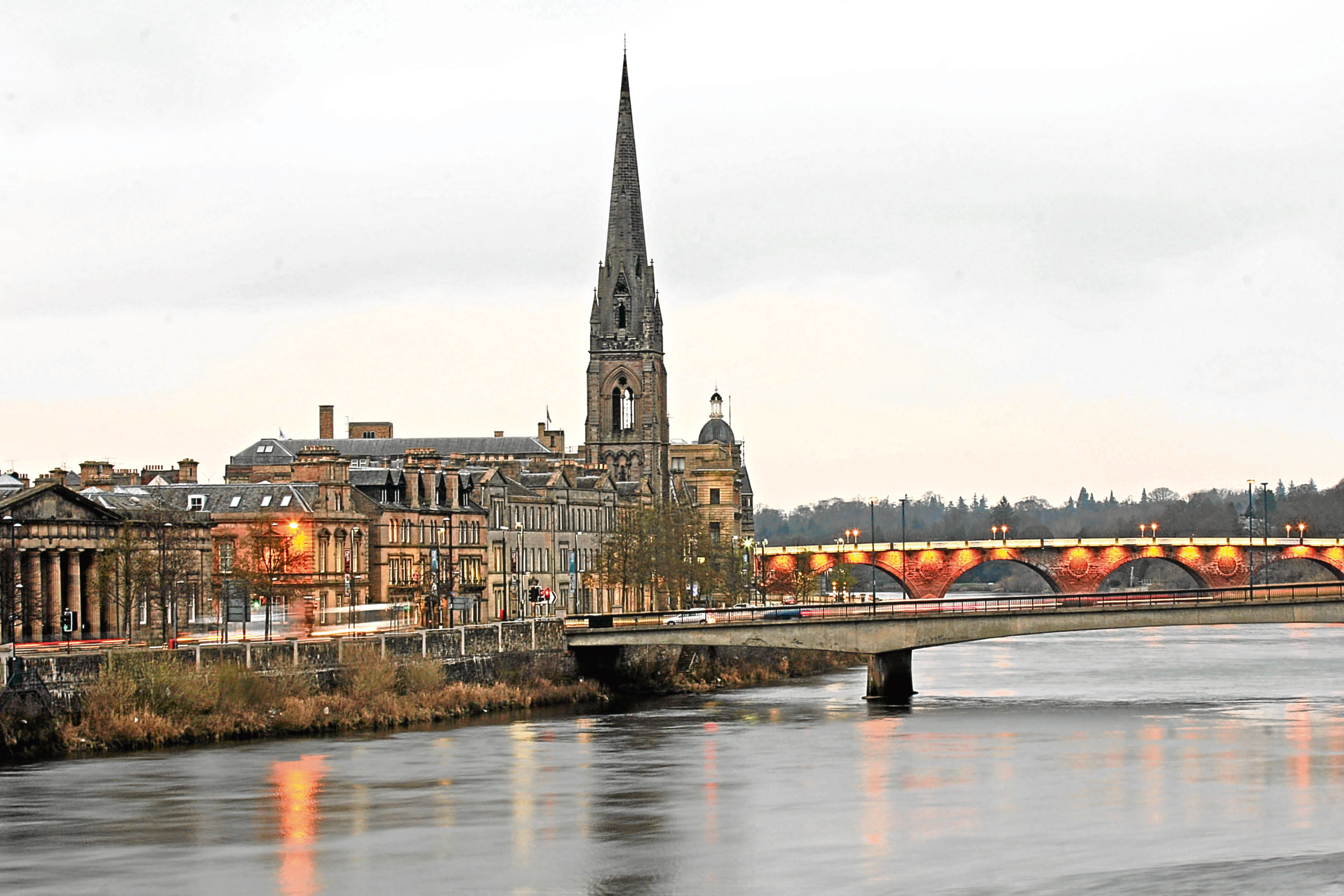 A view of Perth city centre.