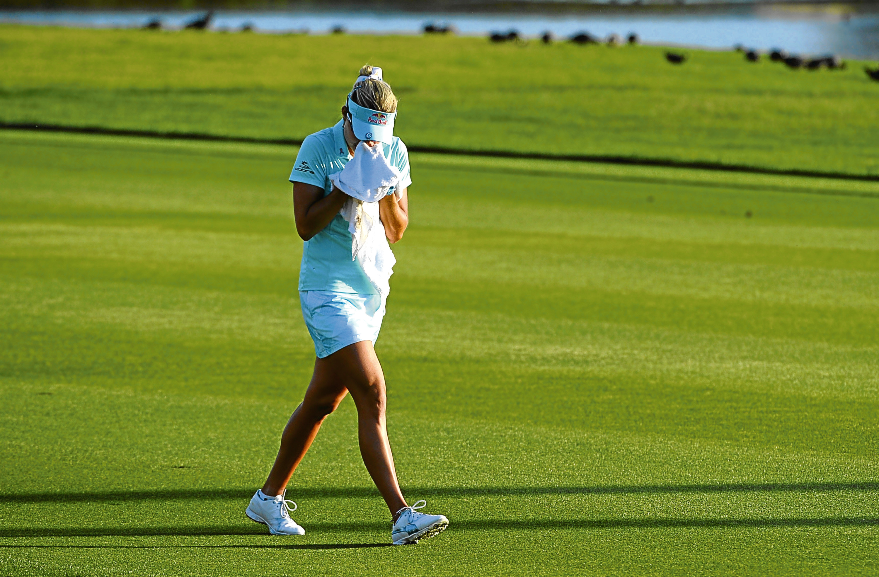 Lexi Thompson's emotional reaction at the ANA Inspiration in April after she was retrospectively penalised for a ball-marking error.