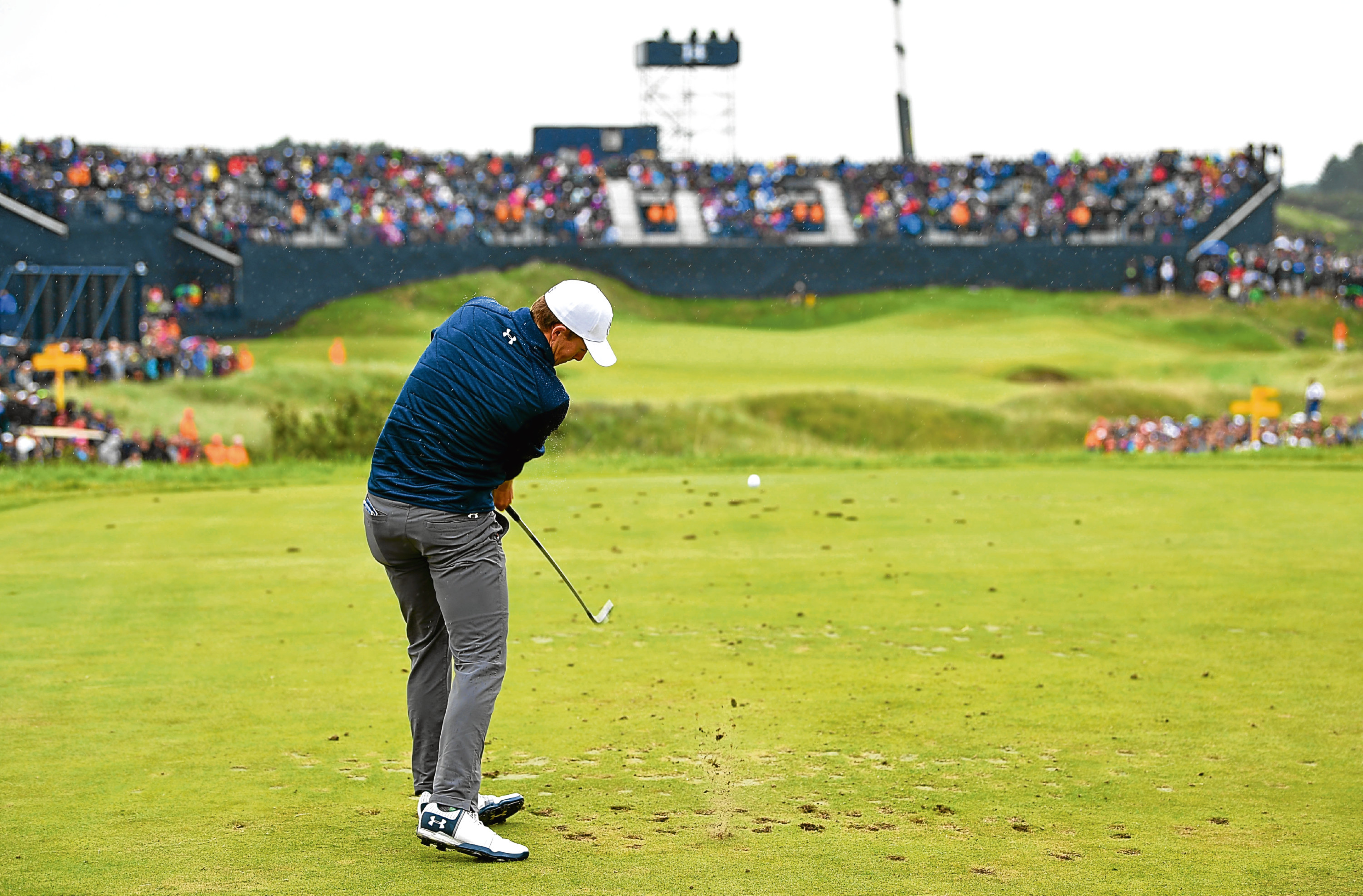 Soon after his shank of the year, Jordan Spieth hits the shot of the year at the 14th at Birkdale to kickstart the comeback of the year.