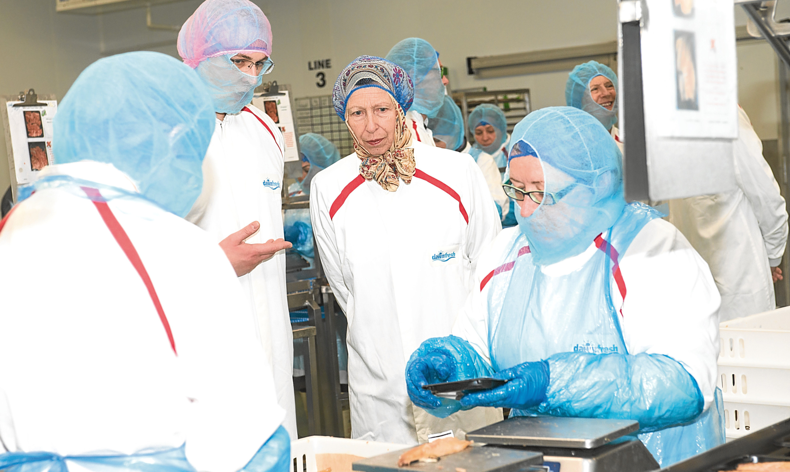 Princess Anne takes a tour of RR Spink & Sons facility in Arbroath in July following completion of a £3.1 million investment.