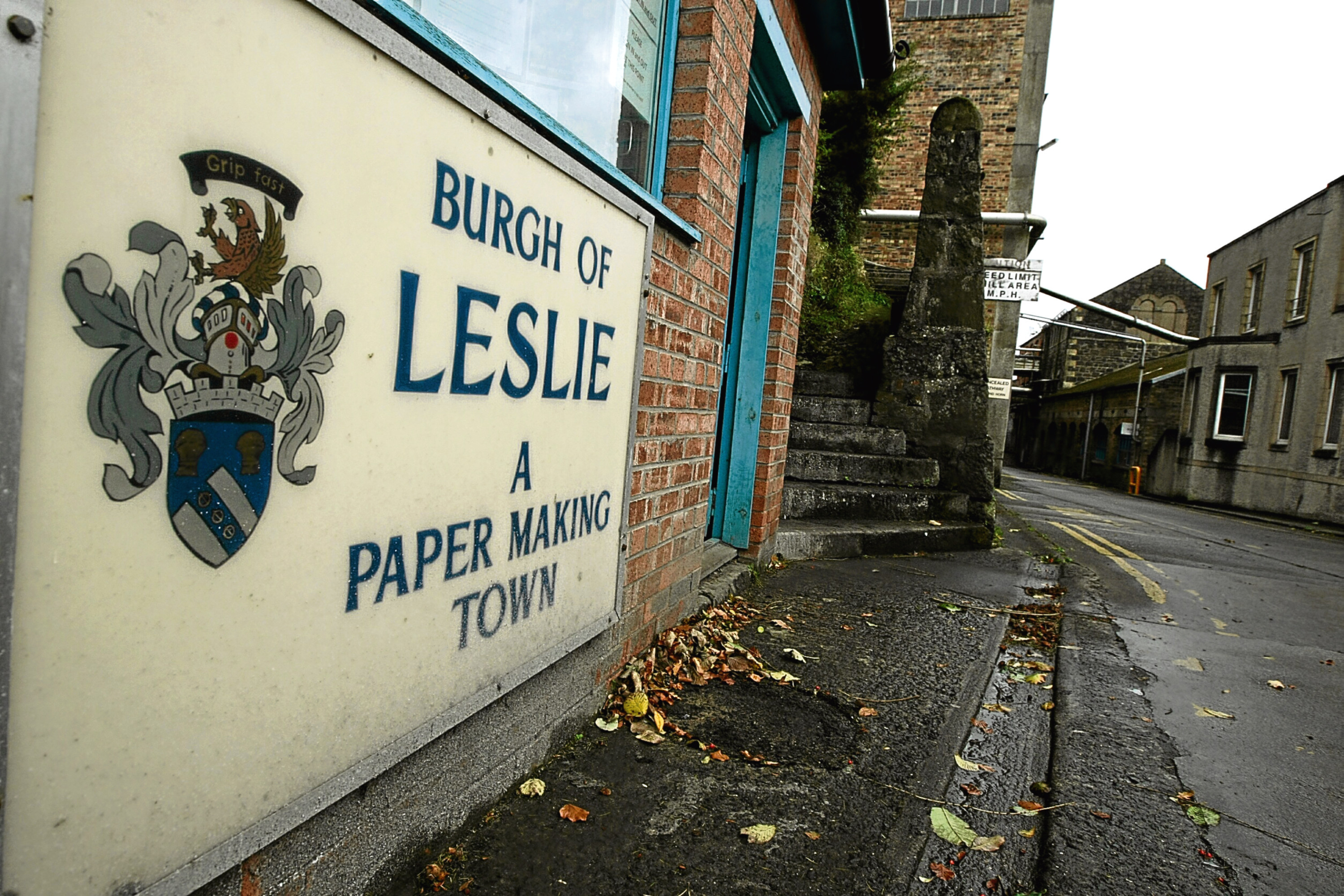 The entrance to the Sapphire Mill at Fettykil, Leslie. Picture: Dougie Nicolson.