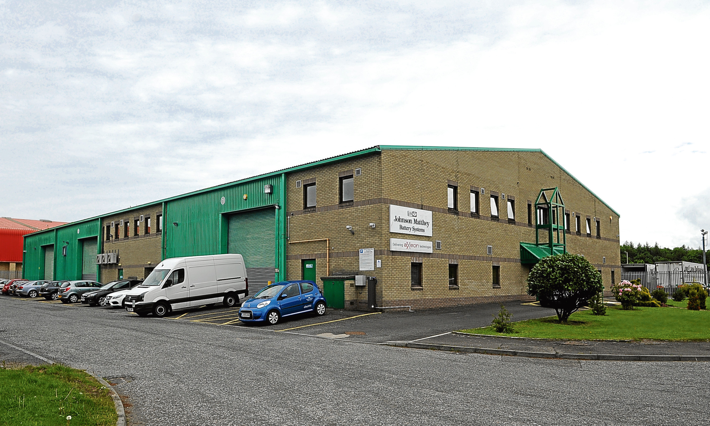 The former Johnson Matthey Battery Systems premises at Wester Gourdie Industrial Estate, Dundee.