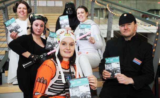 Perth Concert Hall staff in Star Wars outfits.
