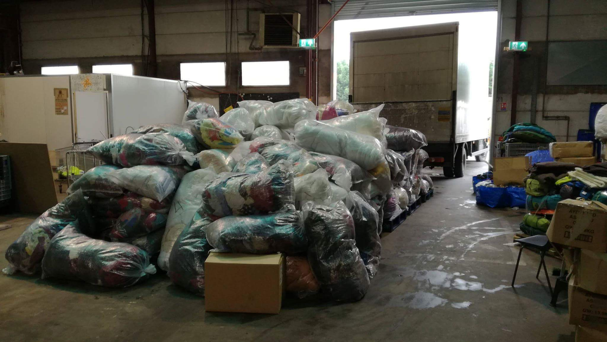 The team sent off 150 bags from the Dundee warehouse.