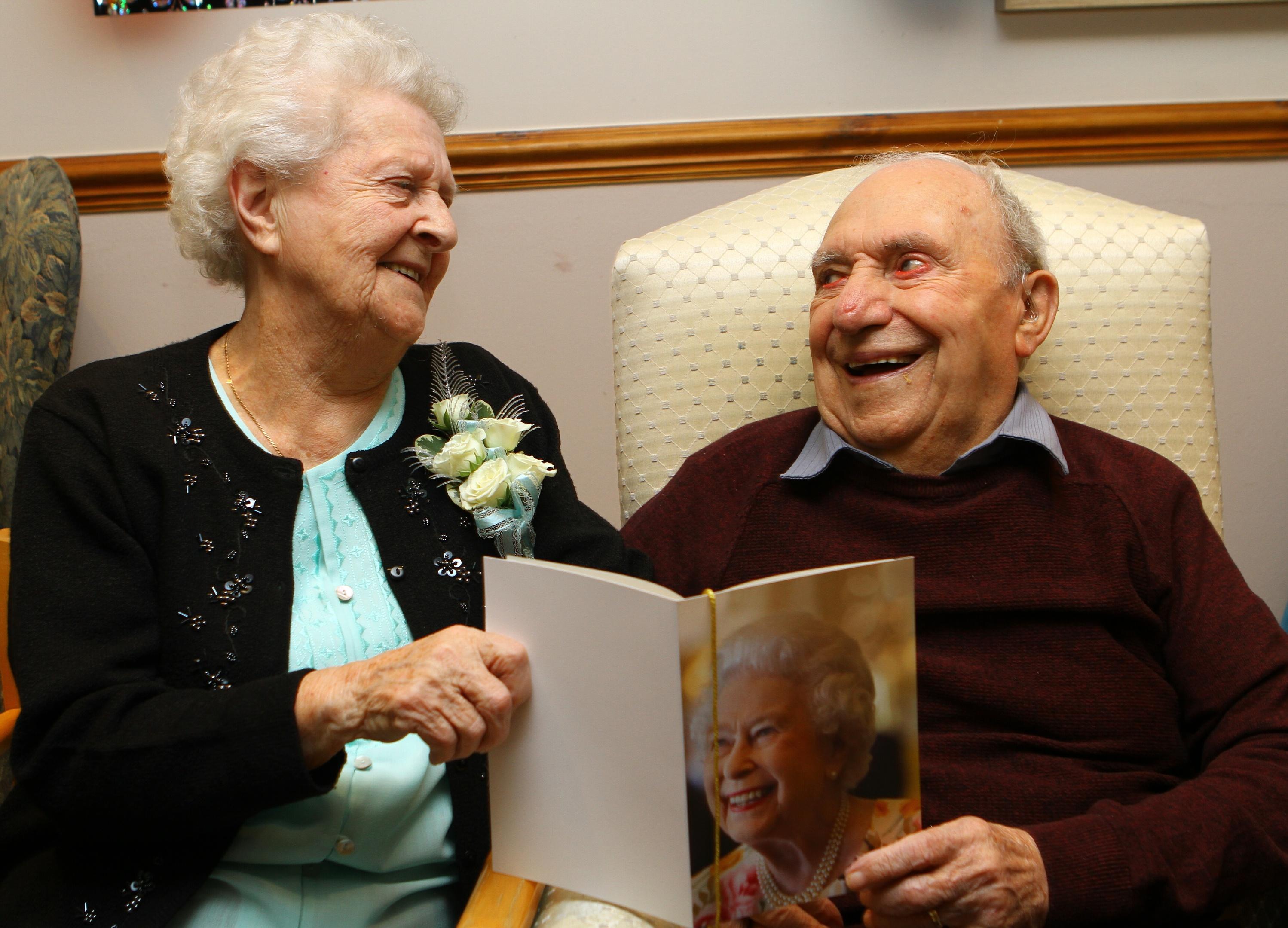 Helen & Neil Scott, celebrating their 70th wedding anniversary