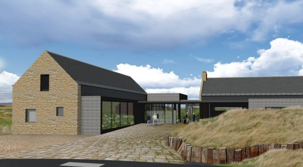Artist's impression of Dumbarnie Links Clubhouse