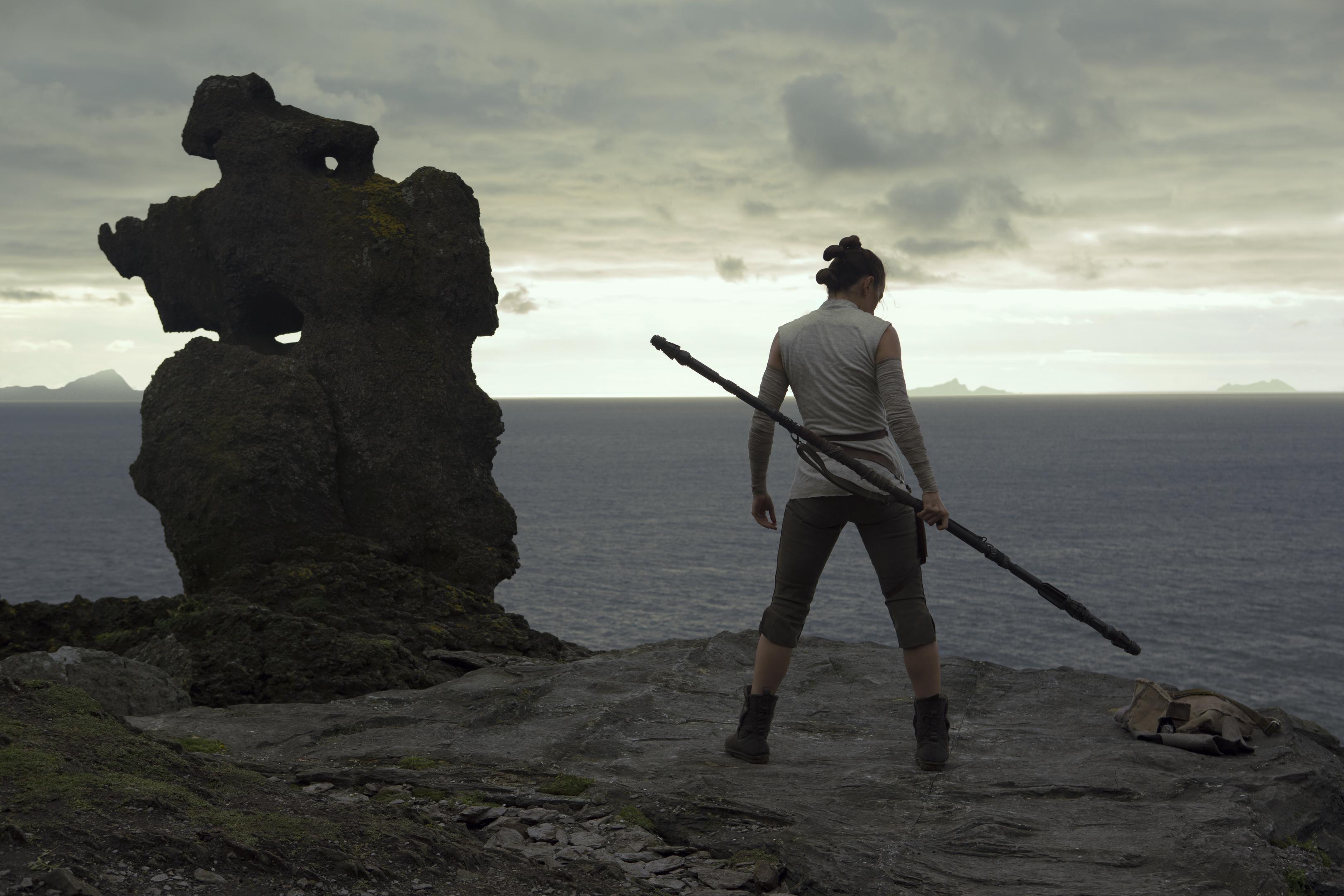 Rey in Star Wars: The Last Jedi.