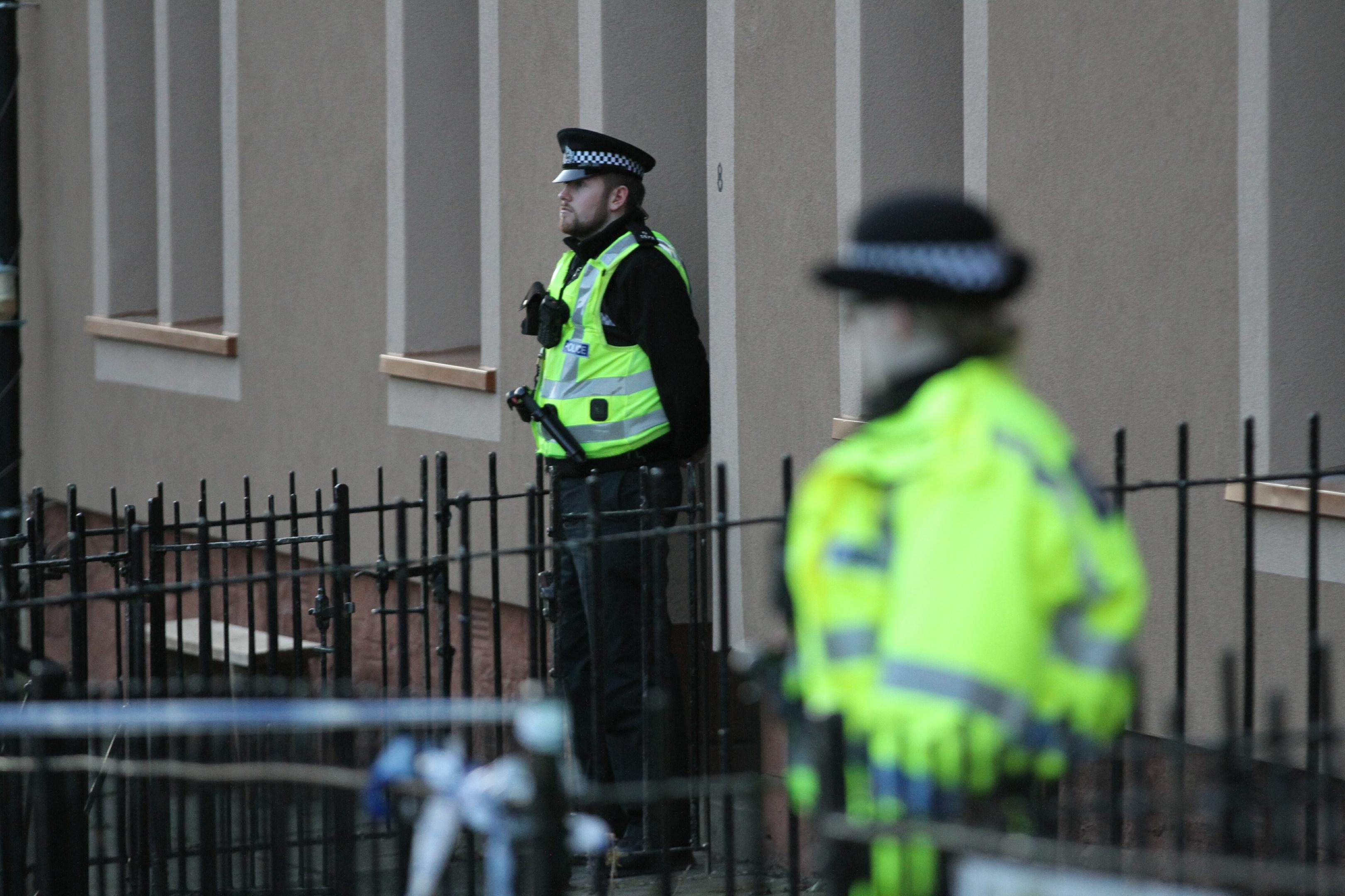 Police on Fairbairn Street