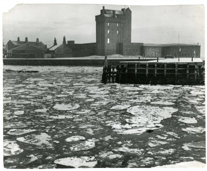 Ice at Broughty Ferry Harbour in January 1963.