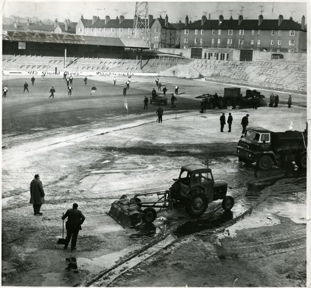 Tannadice Grounds Work, January 25 1963.