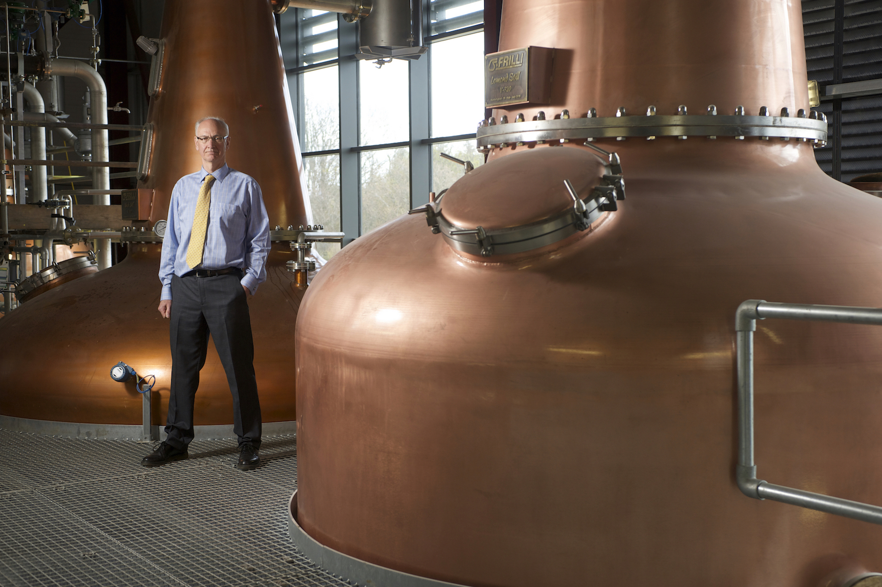 Ian Palmer, the managing director of InchDairnie Distillery in Glenrothes