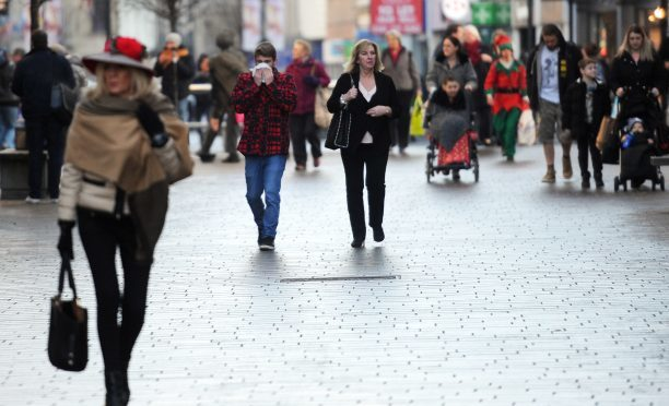 Christmas shoppers in Perth.