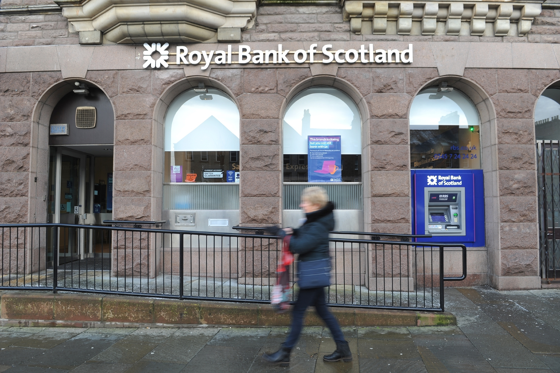 The Montrose branch of RBS is on the closure list.