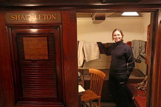 Wendy Searle was granted special access to Shackleton's personal cabin