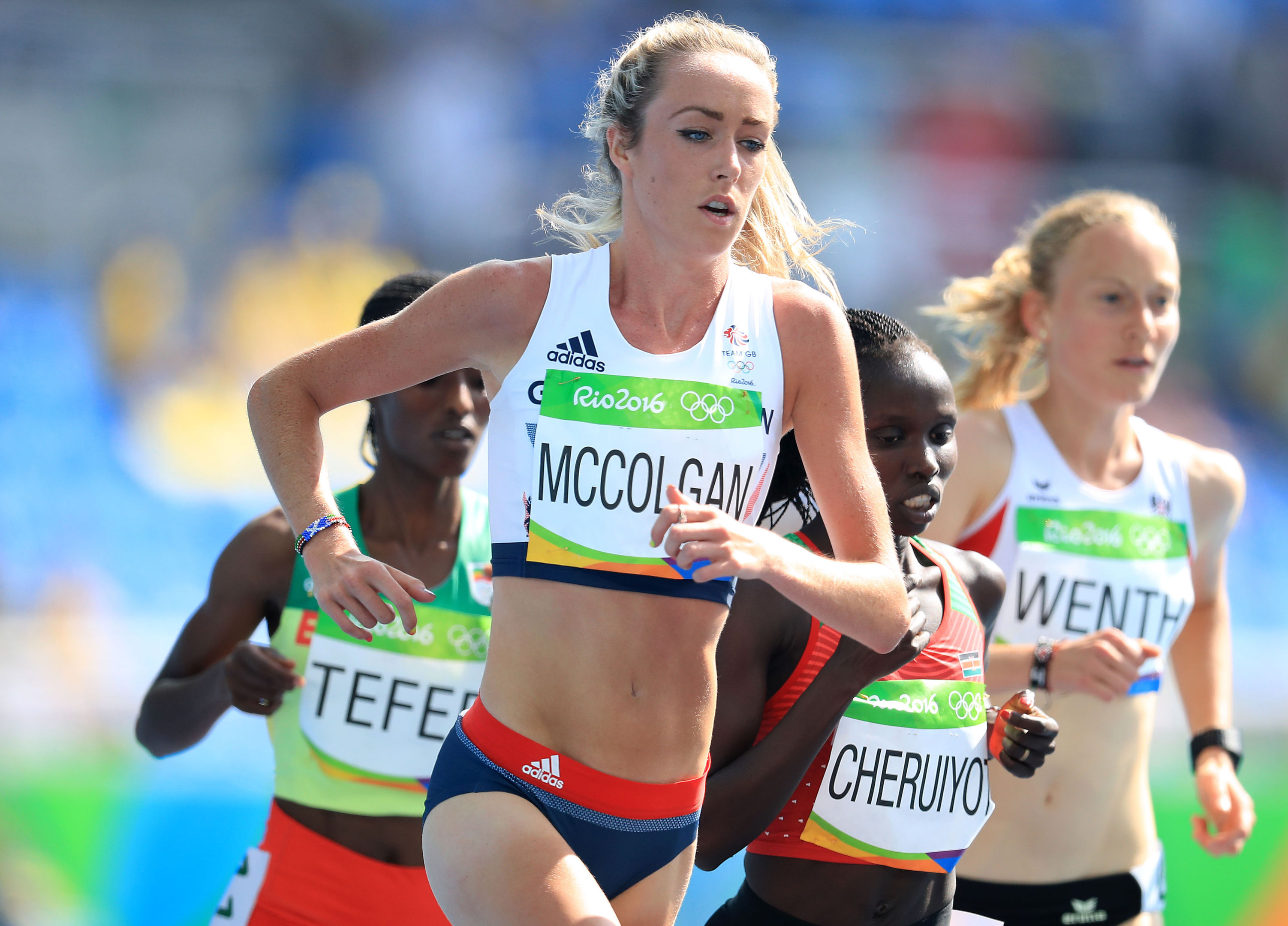 Eilish McColgan in action at the Rio Olympics