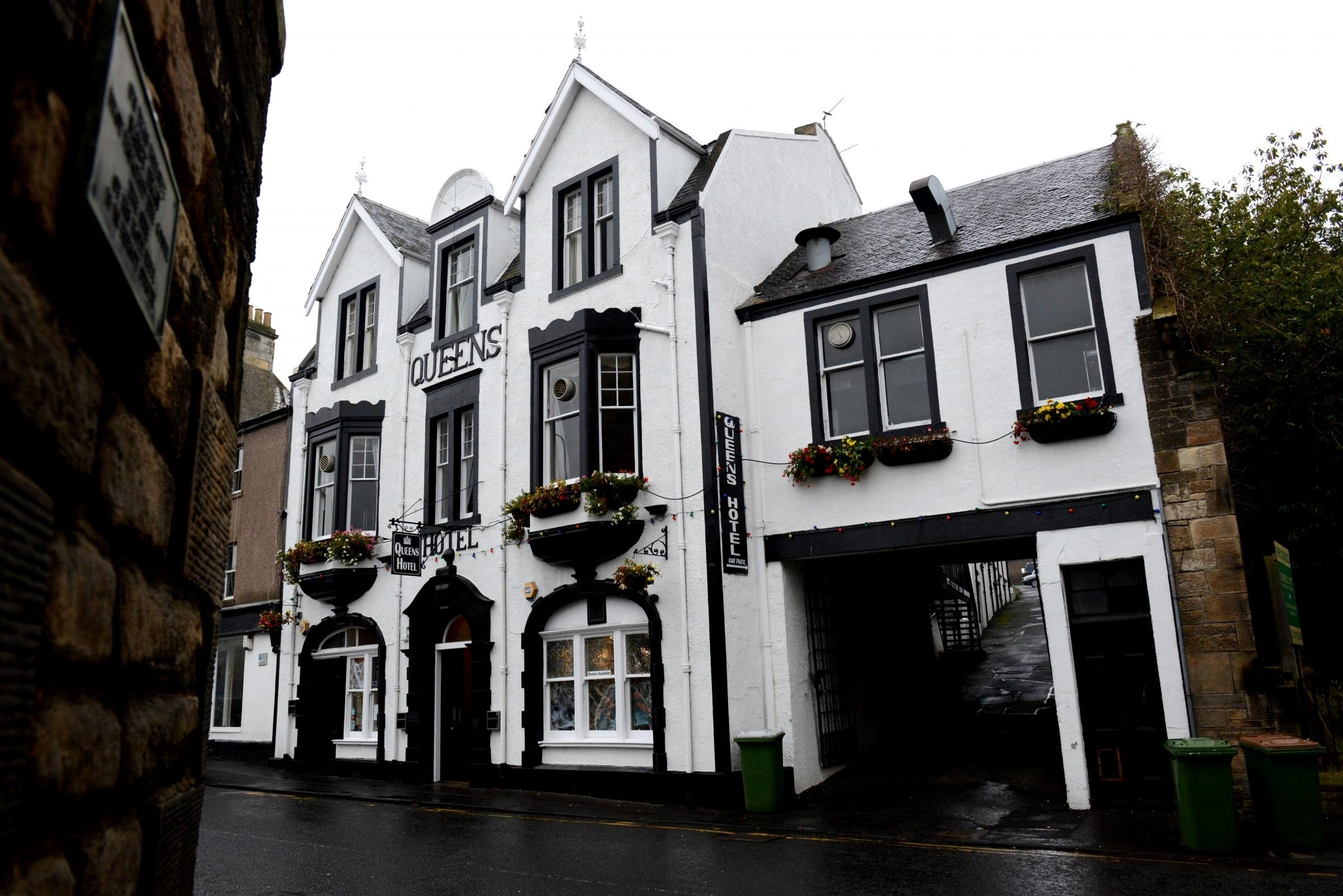 The iconic Queens Hotel in Inverkeithing.