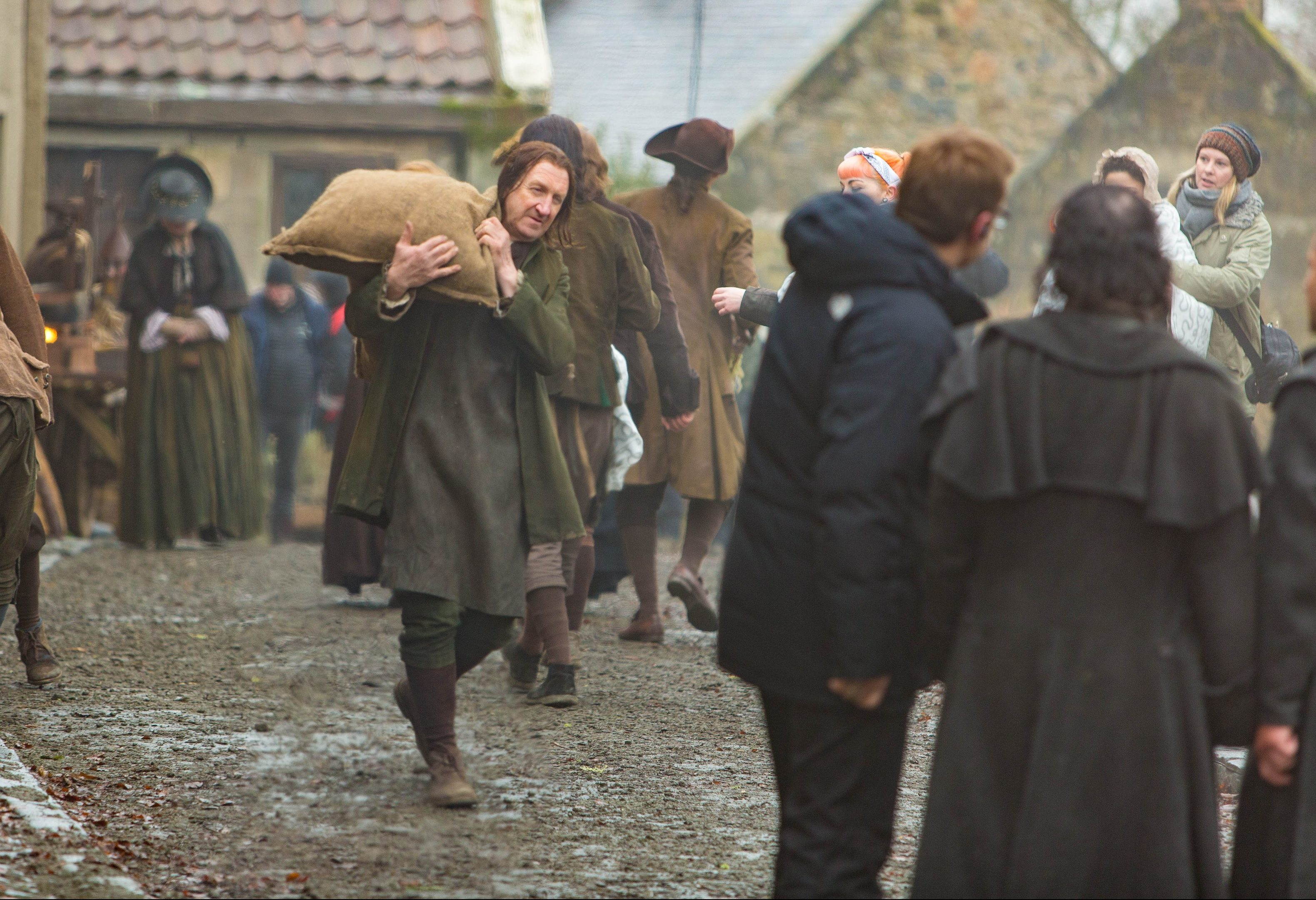 Filming of Outlander in Falkland.