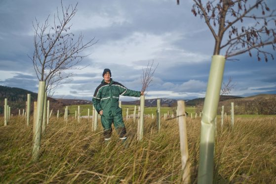 Jim Simmons won the RSPB's Nature of Scotland farming award for his conservation work