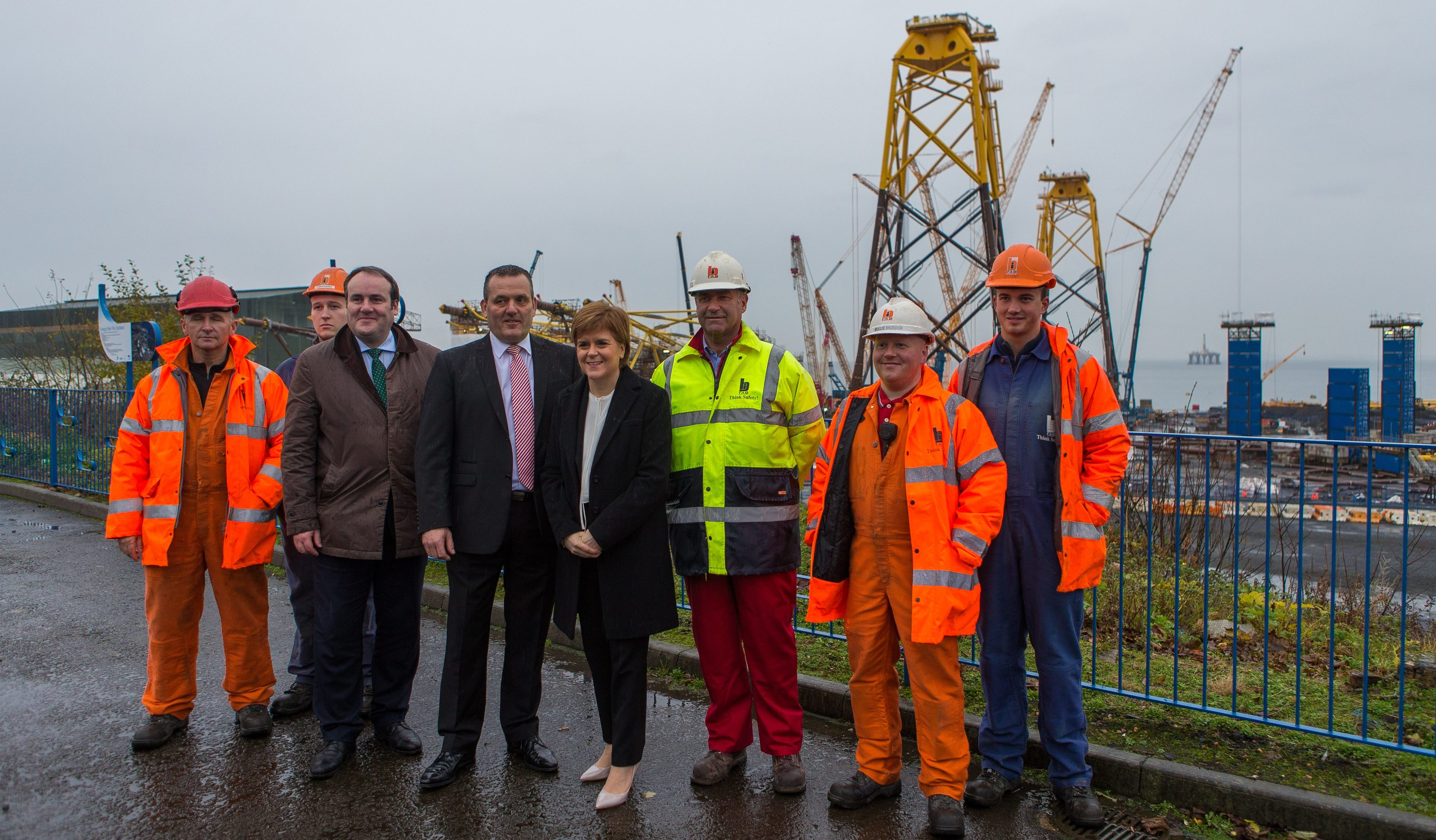 First Minister Nicola Sturgeon visited BiFab when its future was secured last year