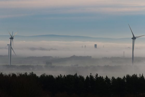 Low lying fog over central Fife.