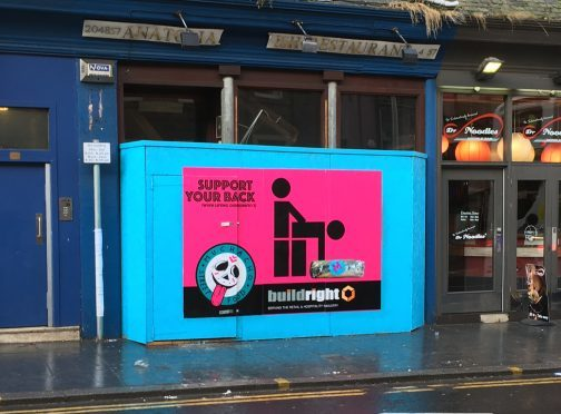 The advert, located next to Dr Noodles on the Nethergate