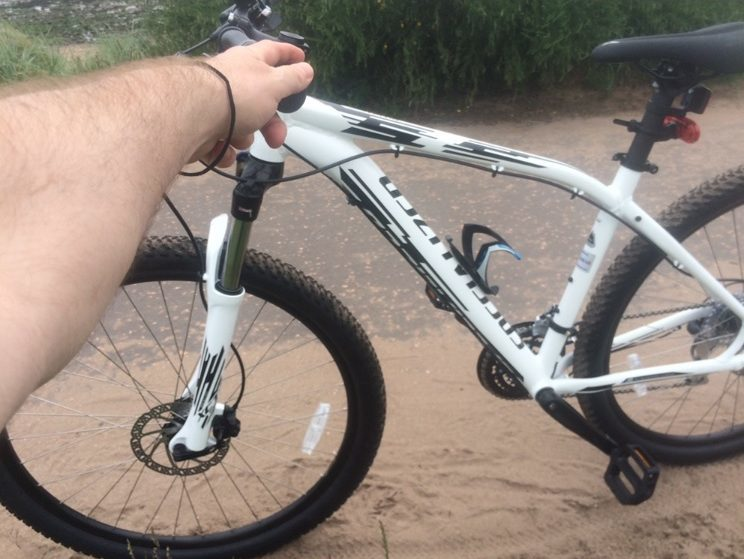 A picture of the mountain bike which was stolen.