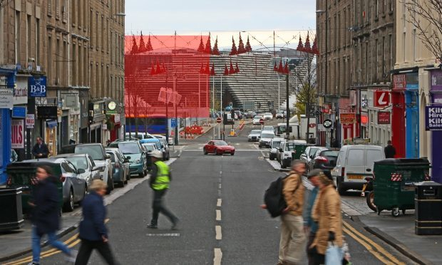 The view of the V&A from the top of Union Street has become one of the city's favourites. But it will be obscured when Site 6 (highlighted in red) is developed into a five-storey office block.