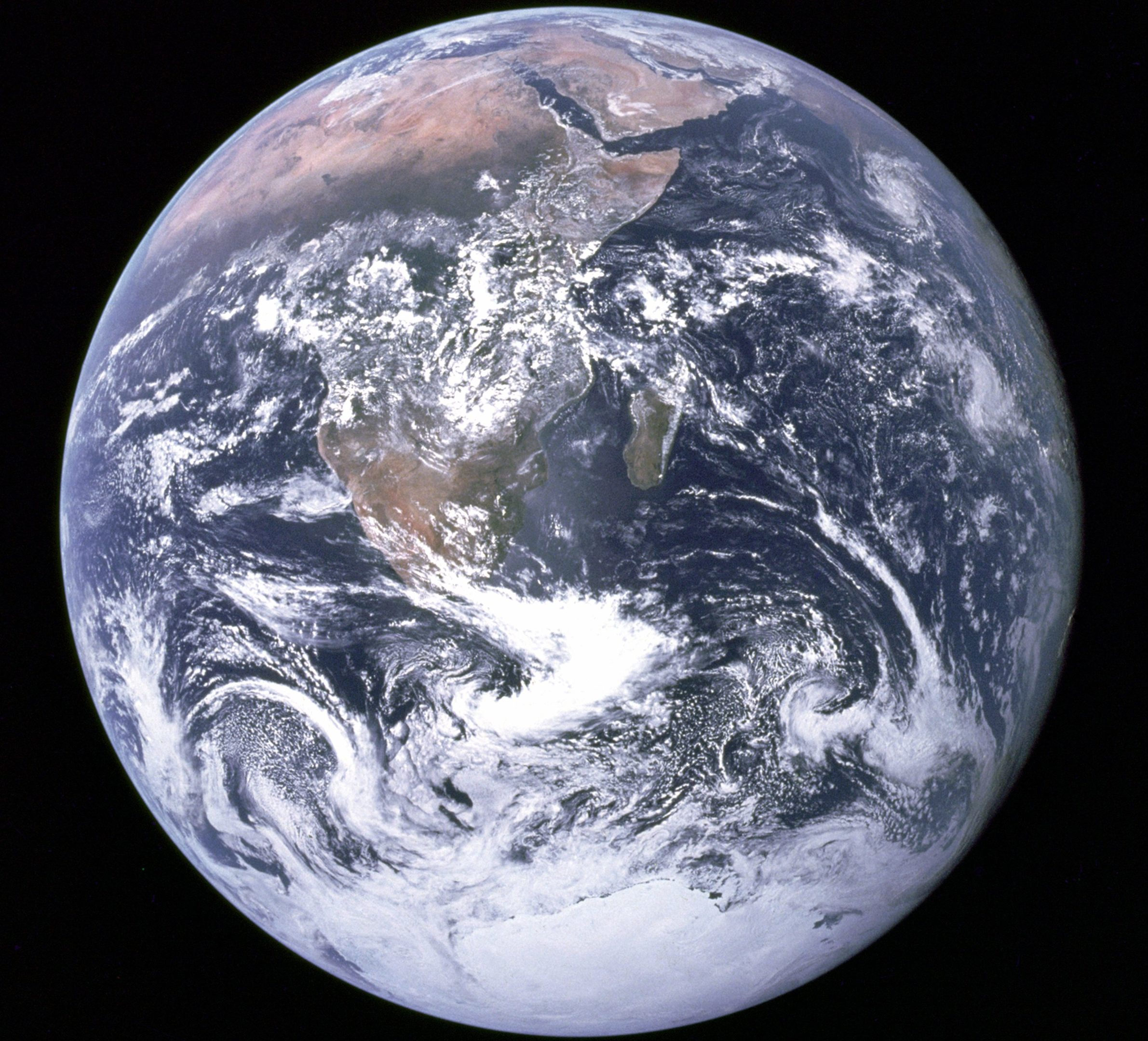 'The Blue Marble' image of Earth taken by Apollo 17 crew on December 7, 1972