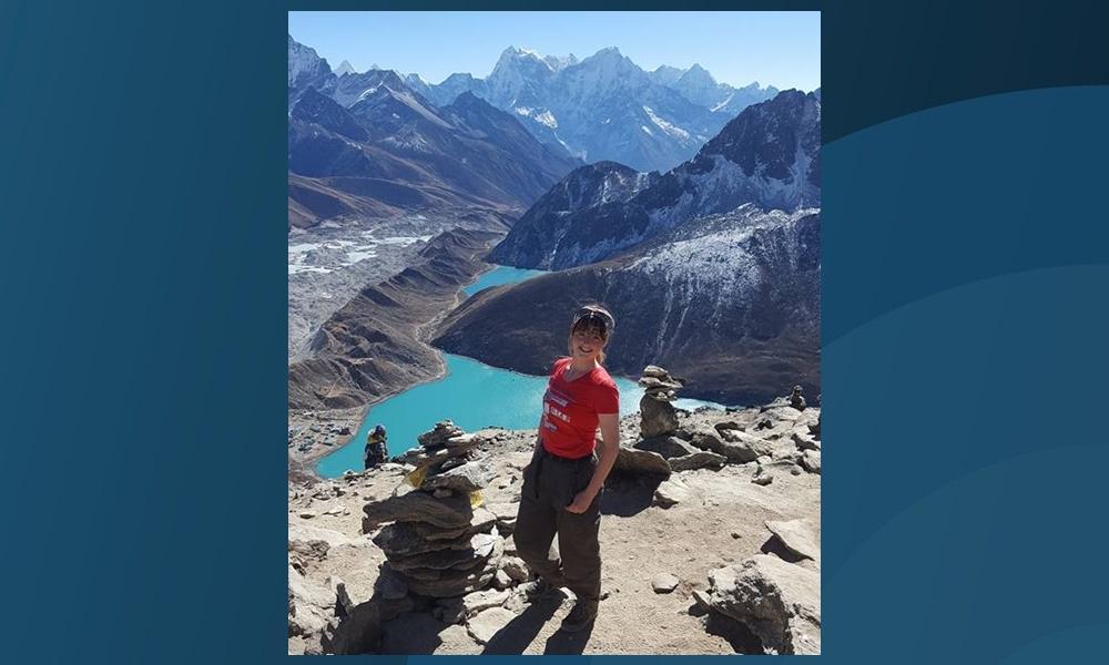 Shauney Watson in the Himalayas.