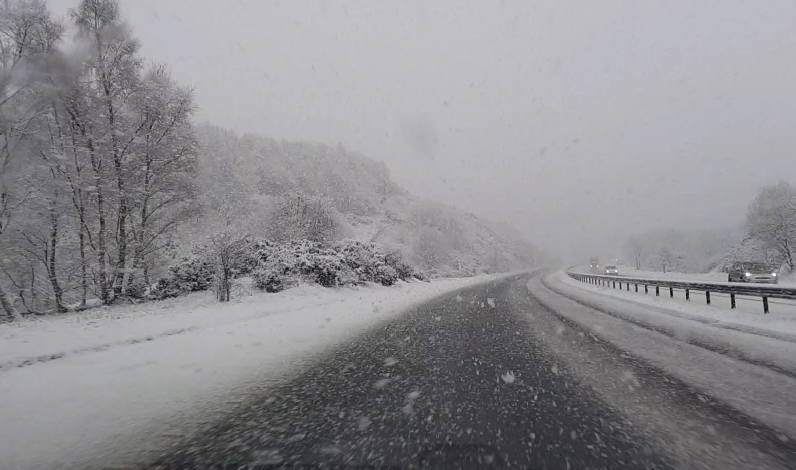 The M90 between Bridge of Earn and Kinross.