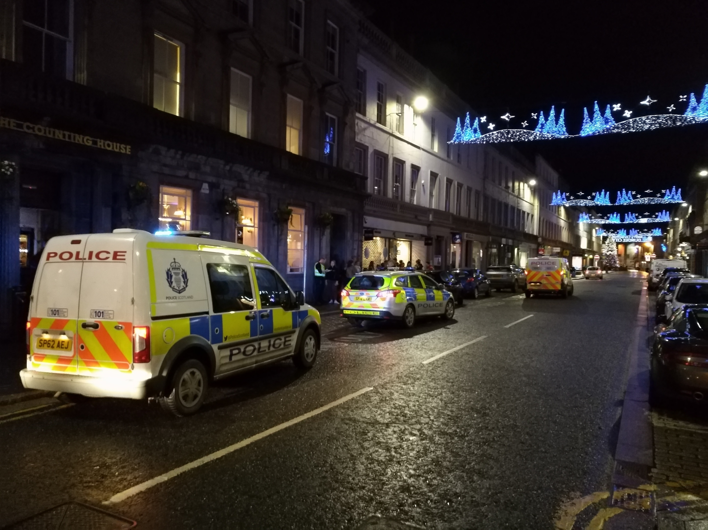 The incident in Reform Street, Dundee.