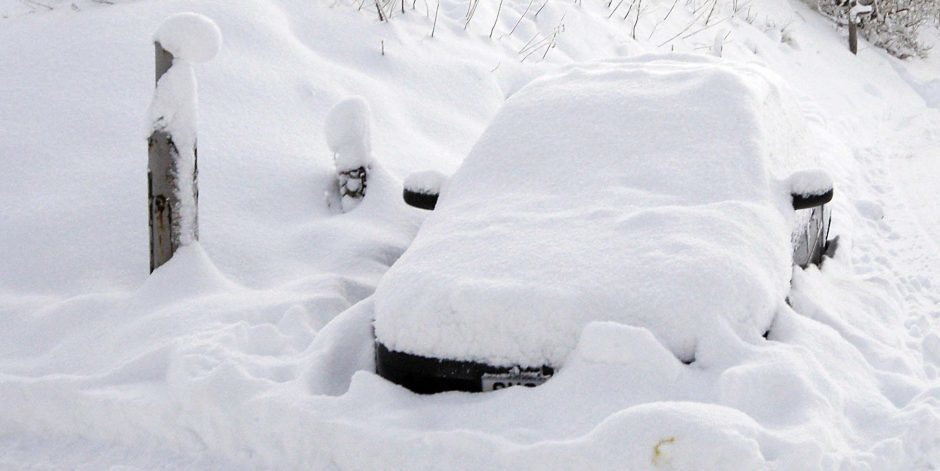 A huge amount of snow fell during the 2009-10 winter